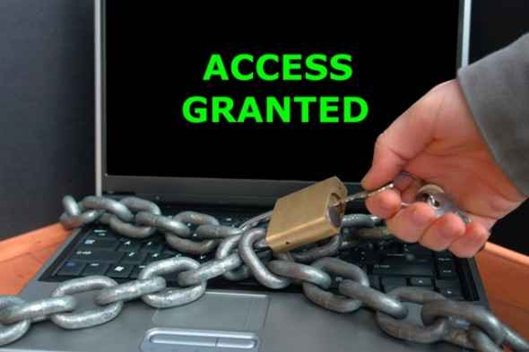 Access Granted Computer Chained Spam