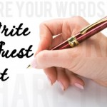 guest posting share your writing lady with pen in hand