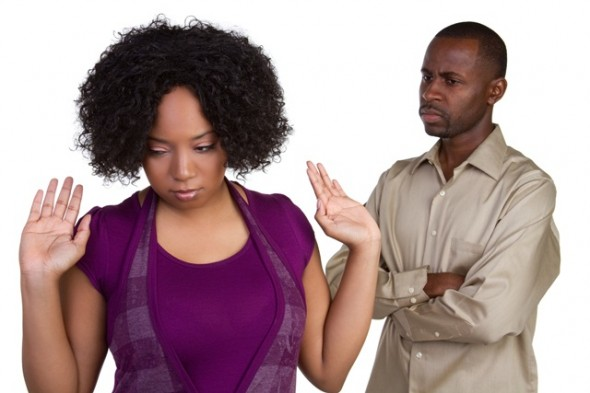 Woman upset with spouse in relationship