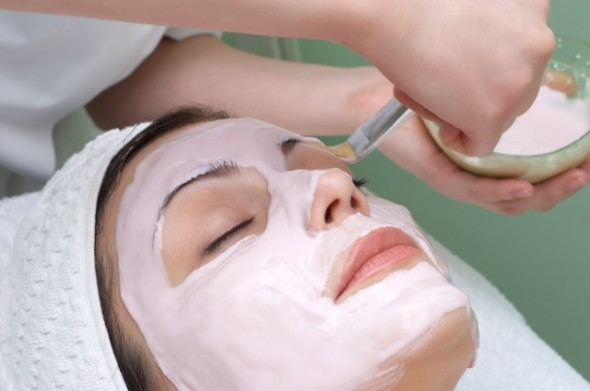 beauty salon series, facial mask