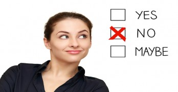 Business woman saying no